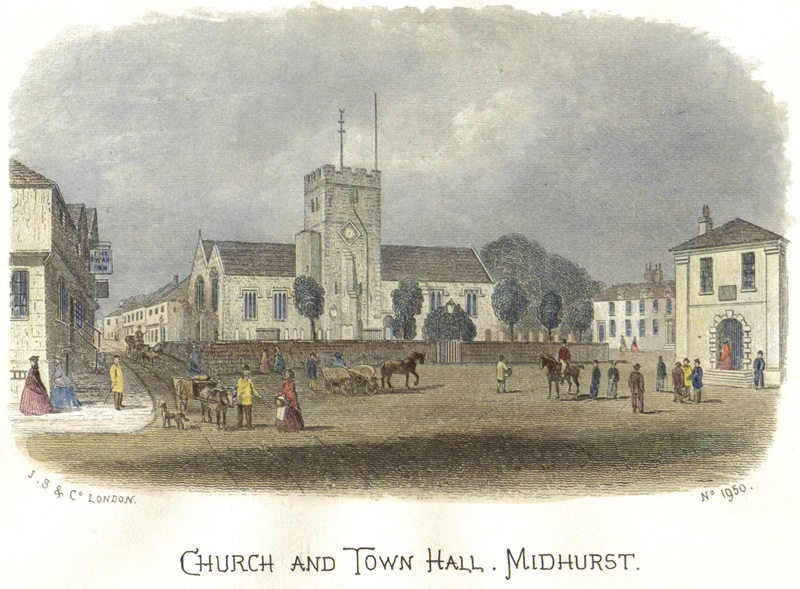Midhurst Parish Church, Town Hall and Square